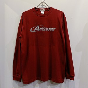 ANSWER COLLECTION /  METALIC LOGO L/S TEE