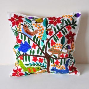 メキシコ シナカンタン刺繍クッションカバー(C)