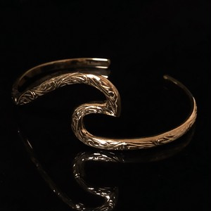24kgp Hawaiian jewelry bangle(wave)