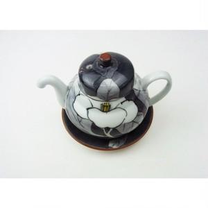 有田焼 醤油さし[台付き汁次] 色分け山茶花 204605002-1711