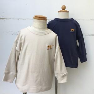DILASH ワンポイント刺繍長袖Tシャツ
