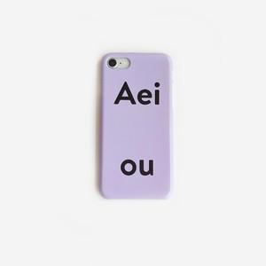 [Aeiou] Hard Phone case - soft purple (7/8,X/Xs,XR,11,11pro)