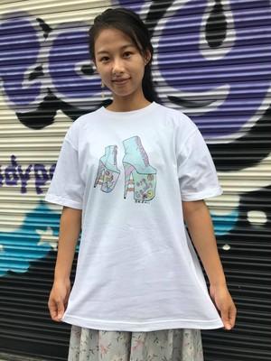 eyecandyヒール柄オリジナルTシャツ ホワイト