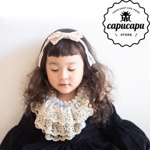 «即納» Pearl Lace cape  パールケープ 付け襟 つけ襟
