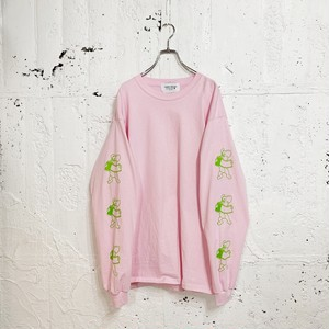 FILM SIDE L/S TEE(LIGHT PINK)