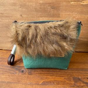 【milktea】グリーン斜めがけバッグ