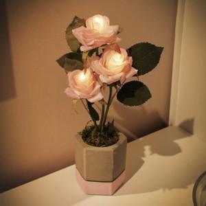 cutie rose pot mood light / ローズ フラワー ライト