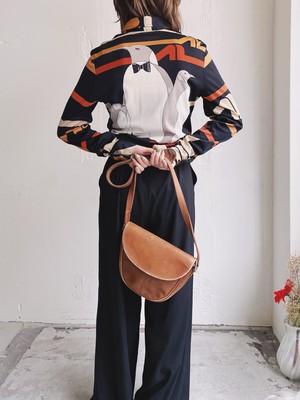 """MAGGIE"" vintage penguin motif shirt"