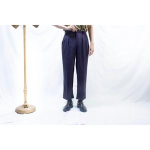 purple navy viscose slacks