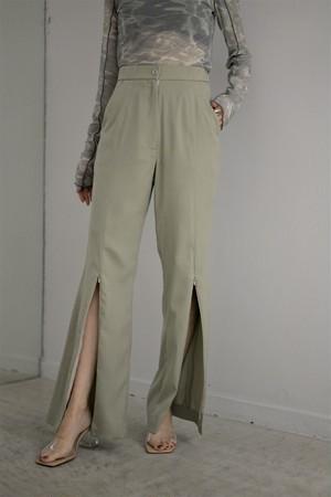 【予約商品】ROOM211 / Embossment Trousers (sage)