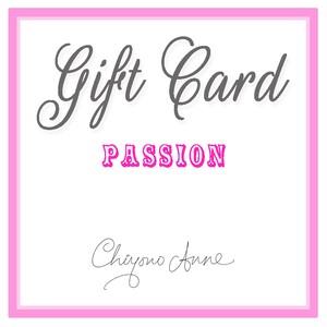 「Passion」 ギフトカード