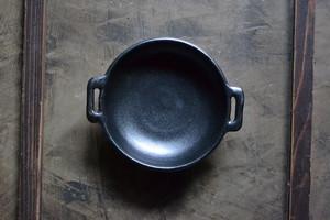 八木橋昇 平グラタン皿 黒