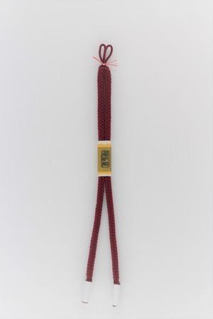 角八つ組 女性用羽織紐 臙脂