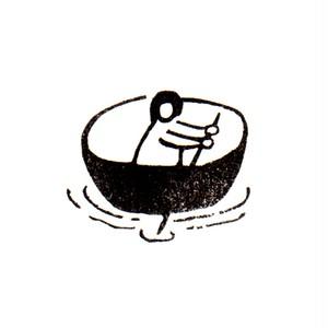 なりゆき一寸法師 Rowing a bowl