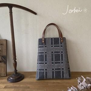 手織り[Aラインバッグ]  チャコールグレー