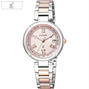 正規品CITIZEN xC腕時計 EC1114-51W エコドライブワールドタイム電波時計 レディースウォッチ