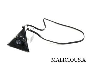 reptiles(D) eye triangle coin case / magenta(mini / crocodile)