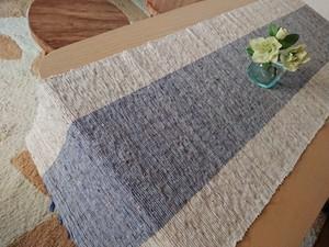リラックス効果のある香りがほんのり香るテーブルランナー  テーブルセンター ブルー ランチョンマット