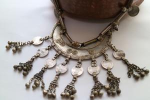 Vintage Banjara half moon necklace