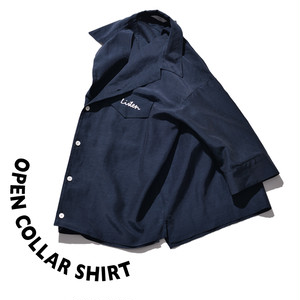 Open collar shirt [Navy]