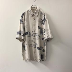 CASA MODA リネンシャツ size L メンズ 古着
