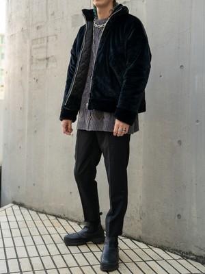 【UNISEX - 1 size】SHORT FUR COAT / Black