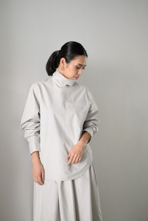 G.V.G.V.  /  COTTON  POPLIN  HIGH NECK SHIRT