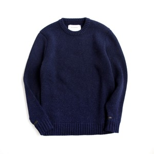 THE INOUE BROTHERS/Low Gauge/Milano Crew Neck Sweater/Navy
