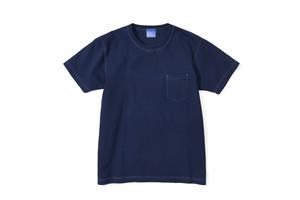 藍染ポケットTシャツ/厚手無地