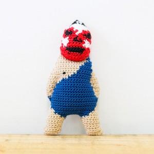 【R】リキシ・ザ・マツコグレートのマスコット(ストラップ) - 編みぐるみ -