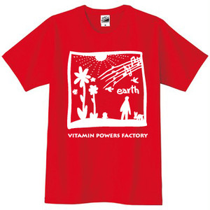 earth Tシャツ レッド