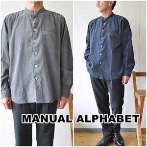 Manual Alphabet マニュアルアルファベット コーデュロイシャツ ma-s-491 長袖シャツ コール天 バンドカラーシャツ