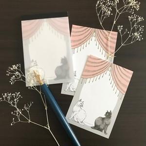 白猫と黒猫 ミニメモパッド