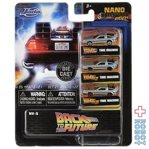 JADA TOYS ナノ・ハリウッド・ライズ 1.65インチ ダイキャストカー バック・トゥ・ザ・フューチャー デロリアン 3パック