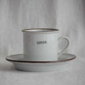 Brown Mist Niels Refsgaard Dansk Designs Flat Cup & Saucer Set