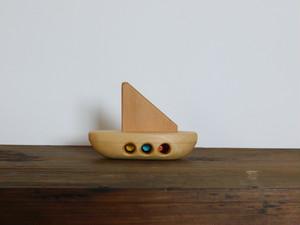 お風呂で遊べる 木のおもちゃ ヨット②