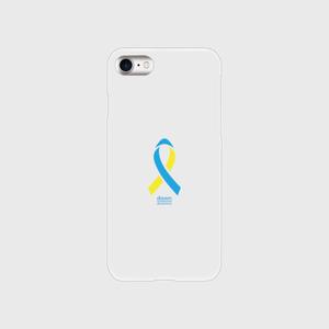 iPhone7 クリア ダウン症候群アウェアネスリボンデザイン