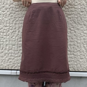 (LOOK) cotton tight skirt