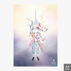 【A4 ポスターデータ】 心の声に意識を集中 【ダウンロード販売】