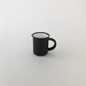 黒いホーローのエスプレッソマグ|Black Enamel Espresso Mug