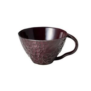 「リアン Lien」スープカップ 直径約12cm 330ml パープル 美濃焼 267828
