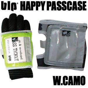 blp ハッピー パスケース Wカモ スキー・スノーボードのチケット入れ レンズクロス内臓