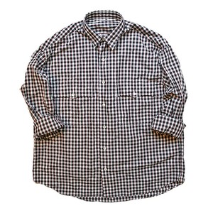 Porter Classic - ROLL UP TRICOLOR GINGHAM CHECK SHIRT - BLACK [PC-016-1314]