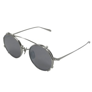 【SALE】two way titanium sunglasses with clip / silver(KANEKO optical made)