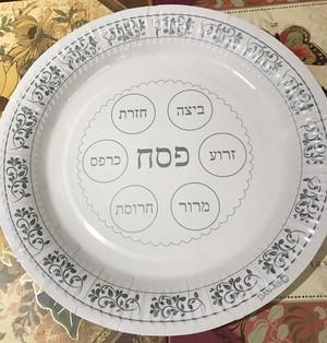 過越の祭 ペーパープレート☆ Paper seder plate for passover