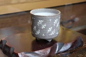 紫三島(開香炉)(Kyo-yaki&Kiyomizu-yaki Incense burner)