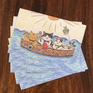 送料無料!5枚組 海猫商店オリジナルポストカード『ハーレー三兄弟』