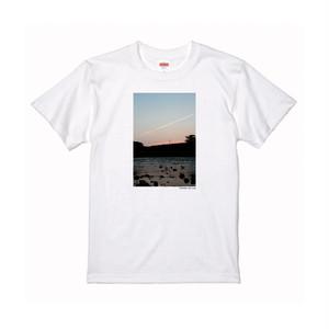【寄付対象】【CHIKUGO百景】矢部川とひこうき雲Tシャツ(送料無料)
