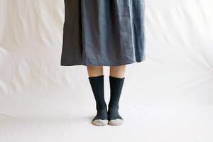 【レディース】 NISHIGUCHI KUTSUSHITA / リスペクトコットンリブソックス