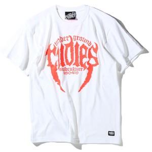 "RUDIE'S / ルーディーズ   【SALE!!!】 "" TUSK TEE "" - WHITE/ORANGE"